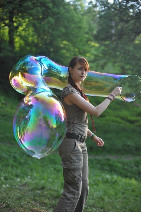 Мыльные пузыри большие