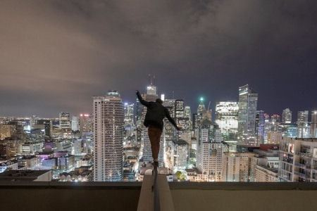 Фотографии на небоскребах
