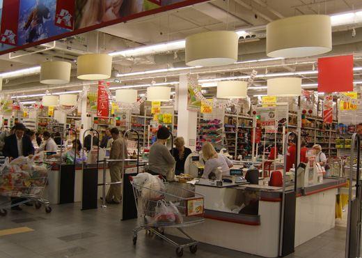 Особенно популярны у населения магазины сети «Ашан»