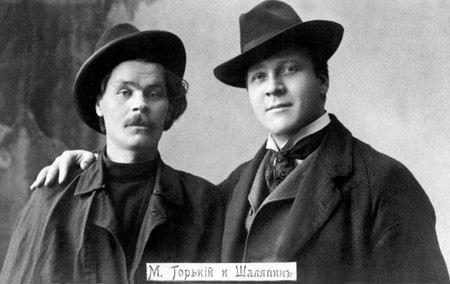 Певец Федор Шаляпин с другом писателем Максимом Горьким