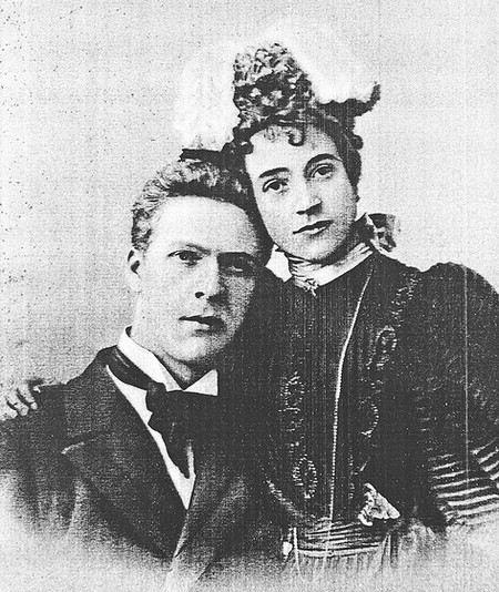Певец Федор Шаляпин с женой Ионой Торнаги