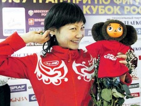 Japanese figure skater Yuko Kawaguchi for a long time in favor of Russia