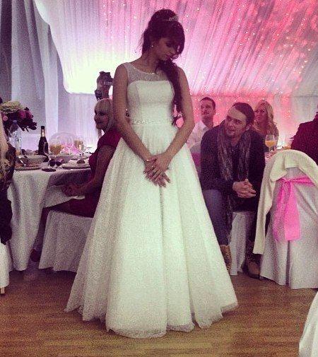 Алиана Устиненко на собственной свадьбе