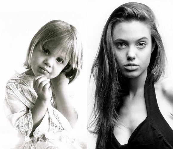 Angelina Jolie in childhood