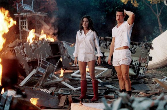 """Angelina Jolie and Brad Pitt in the """"Mr. and Mrs. Smith"""