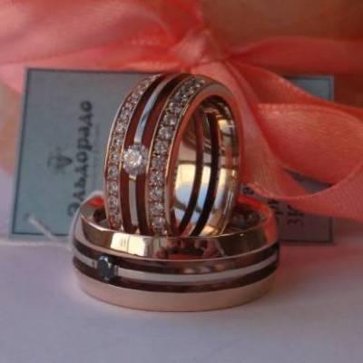 Кольцо из комбинированного золота бриллиантами