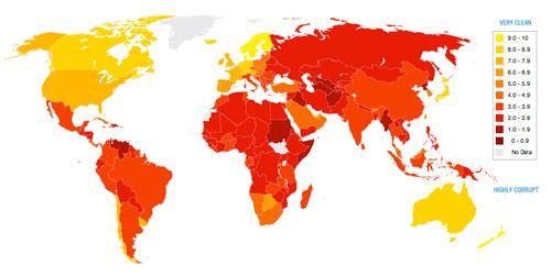 Карта мировой коррупции