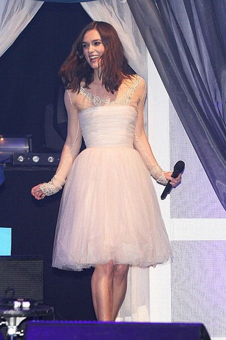Keira Knightley again wore a wedding dress