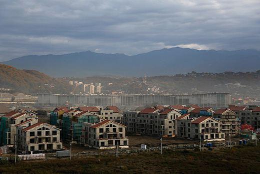 Олимпийская деревня в Сочи в феврале 2013-го