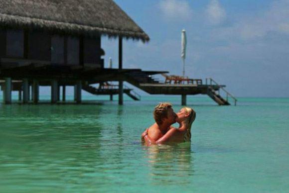 Скандальная фотосессия Волочковой и Баскова на Мальдивах