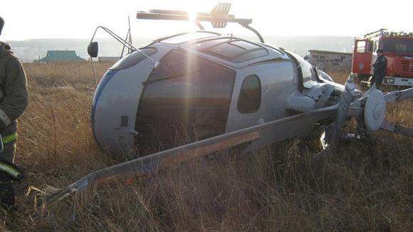Разбившийся вертолет АS-350