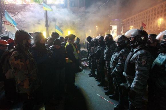 «Беркут» не сумел отбить мэрию Киева у активистов