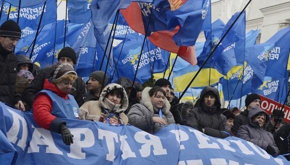 В Киеве собираются сторонники Партии регионов и Януковича