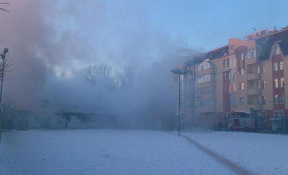 В Москве сгорел фитнес-центр