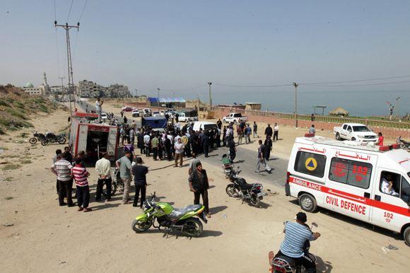 Израиль нанес удар по сектору Газа в ответ на убийство рабочего
