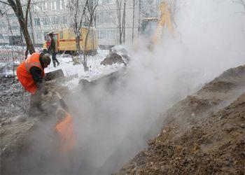 В Санкт-Петербурге на Васильевском произошел порыв трубопровода