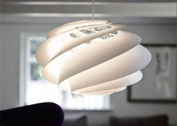 Дизайнеры представили светильник Swirl с плафоном в виде спирали