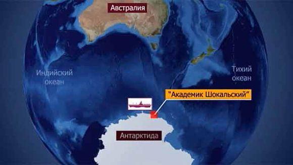Пассажиров застрявшего во льдах судна вывезли на австралийский ледокол