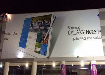 Долгожданные Tab Pro и Samsung Galaxy Note Pro засветились на баннере выставки CES 2014
