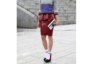 Тренд 2014: Виниловая юбка