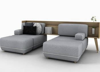 Дизайнеры известной испанской студии представили гибрид дивана и комода «Two Be»