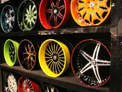 Порошковая окраска колесных дисков