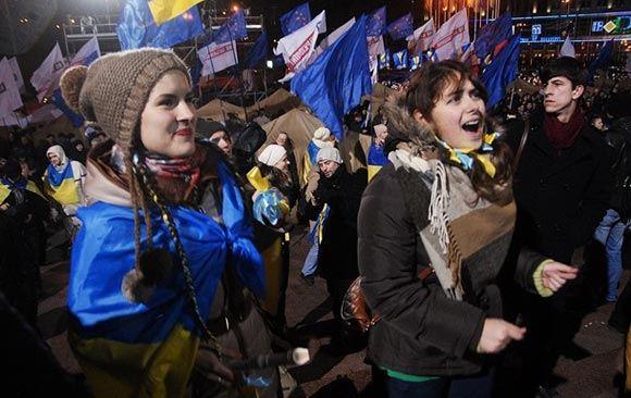В центре Киева проходит очередной митинг оппозиции