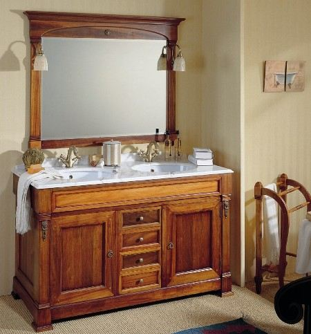 Испанская деревянная мебель для ванной