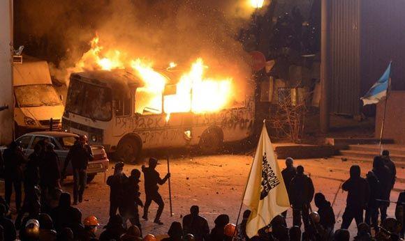 В столице Украины погиб демонстрант