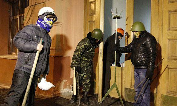 В столице Украины захвачено здание Министерства юстиции