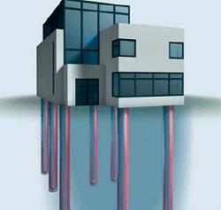 Энергетические сваи для геотермального отопления