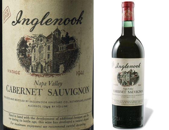 Inglenook Cabernet Sauvignon Napa Valley - входит в список «самые дорогие вина»