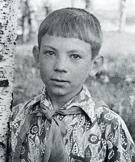 Actor Andrei Fedortsov in childhood
