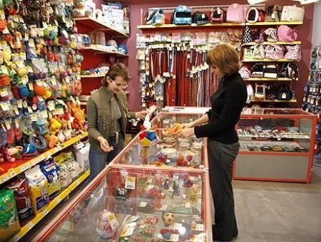 В магазинах для животных - огромный ассортимент товаров