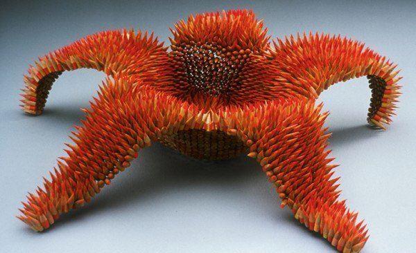 Поделка из карандашей Морская звезда