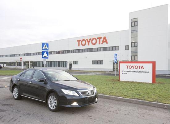Производство машин Toyota Camry в Петербурге выросло на 25 процентов