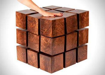 Дизайнеры представили стол из магнитных кубов