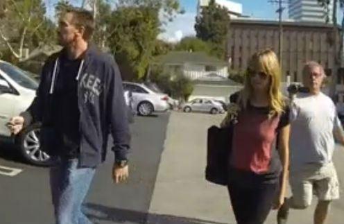 Хайди Клум и ее бывший бойфренд посетили адвокатскую контору