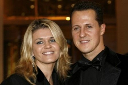 Michael Schumacher with his wife