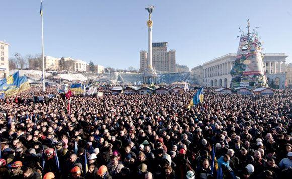 На площади Независимости в Киеве проходит десятое Народное вече