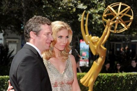 Actress Elizabeth Mitchell with her husband