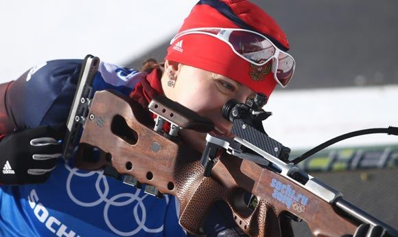 Биатлонистка Ольга Вилухина стала второй в спринте по биатлону