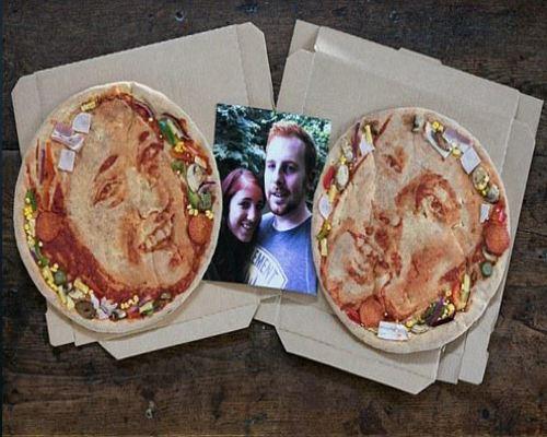 В Англии молодожены заказали необычную пиццу