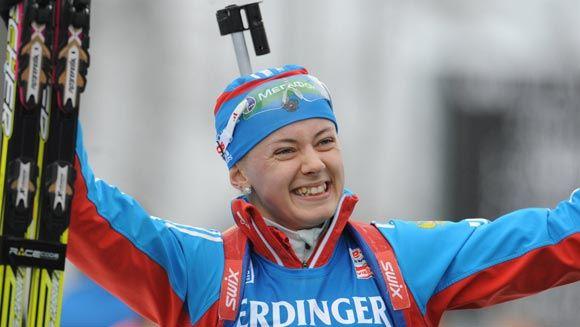 Ольге Вилухиной стало хуже после масс-старта по биатлону