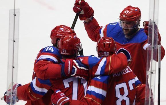 Сборная России по хоккею разгромила команду Норвегии в рамках ОИ