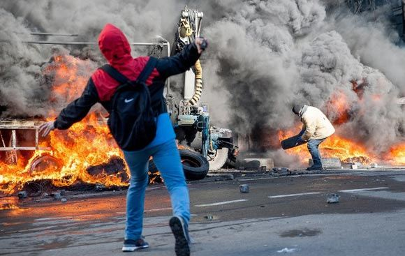 В украинской столице из захваченной консерватории ведется огонь по бойцам спецподразделения