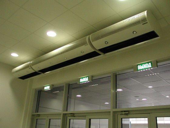 Тепловая завеса - идеальна для обогрева торговых центров