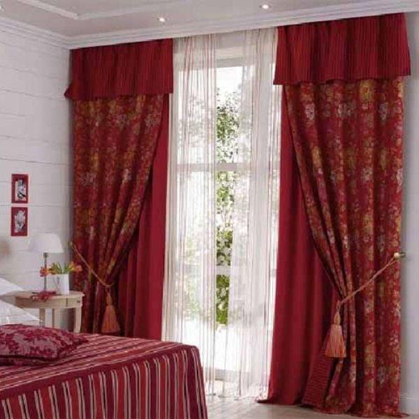 Спальня дизайн шторы