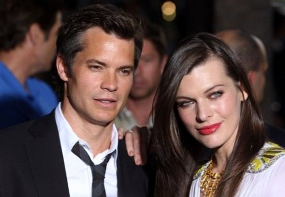 Actor Timothy Olyphant and Mila Jovovich