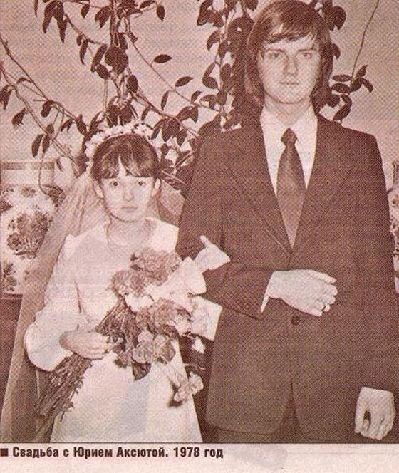 Producer Yuri Aksyuta with his wife Tatyana
